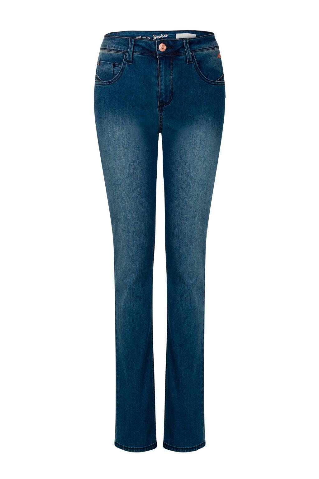 Miss Etam Regulier straight fit jeans Jackie blauw, Blauw