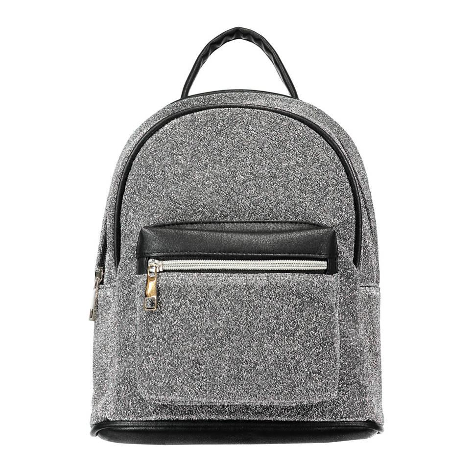 CoolCat rugzak met glitters grijs, Zilver grijs