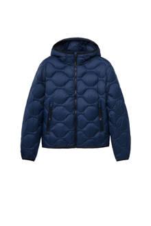jas met dons donkerblauw