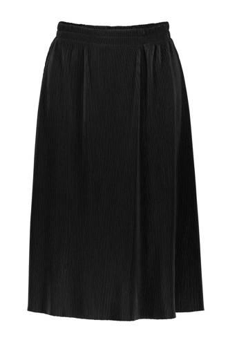 plisse rok zwart