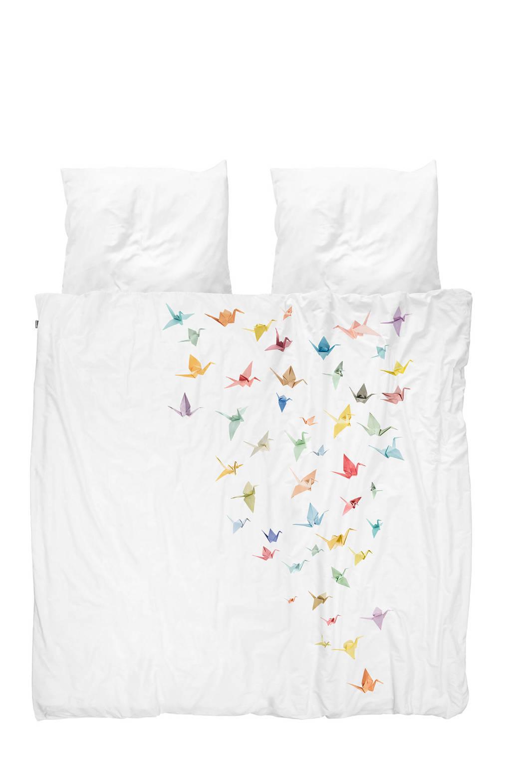 Snurk katoenen dekbedovertrek lits jumeaux, Lits-jumeaux (240 cm breed)