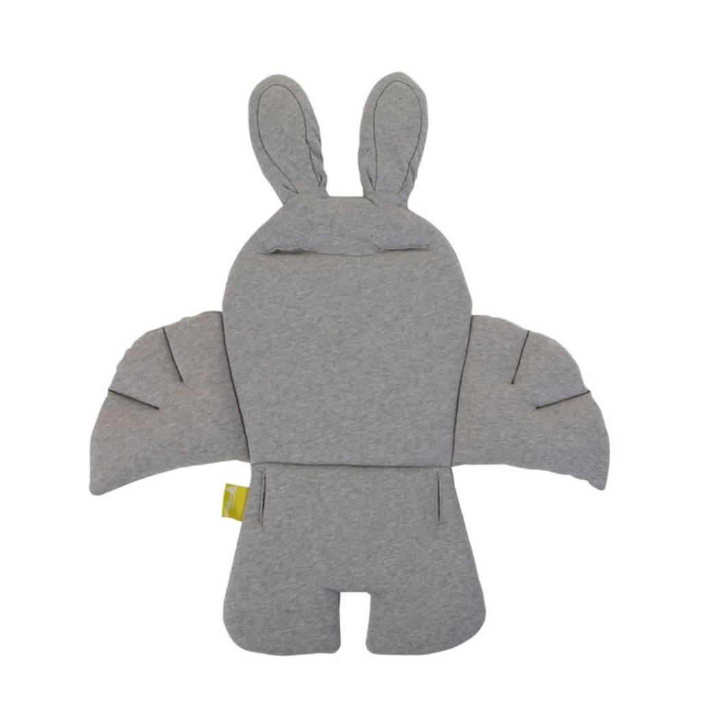 Childwood Rabbit stoelkussen jersey grijs, Grijs