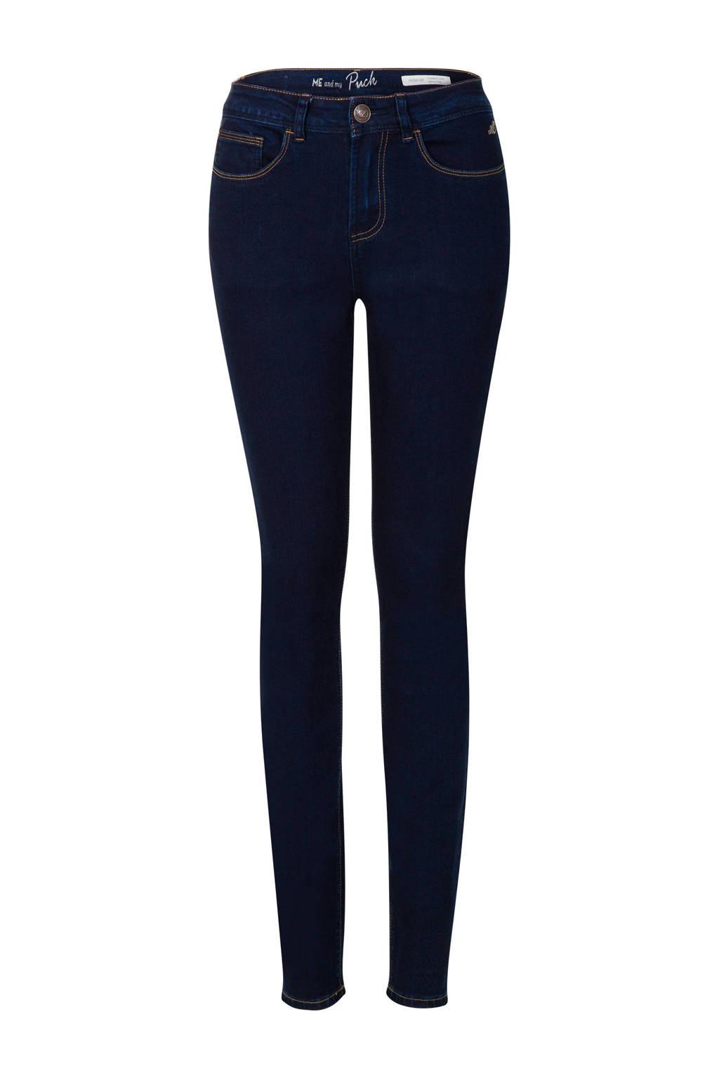 Miss Etam Regulier skinny jeans Puck 32 inch, Donkerblauw