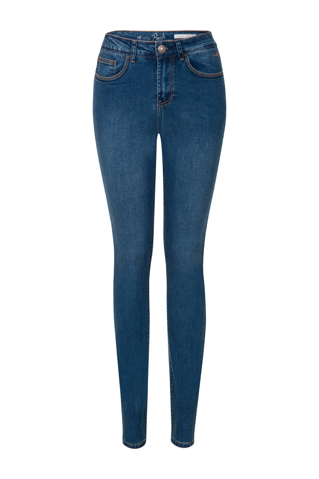 Miss Etam Lang skinny jeans Puck 36 inch, Blauw