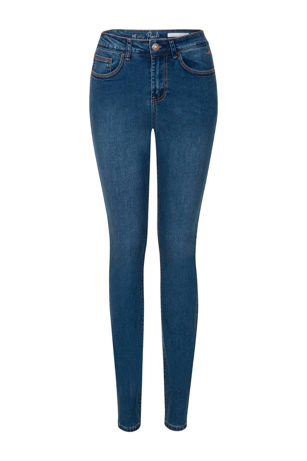 Miss Etam Lang skinny jeans Puck 36 inch blauw, Blauw