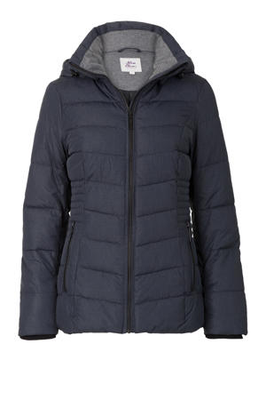 Regulier jas donkerblauw