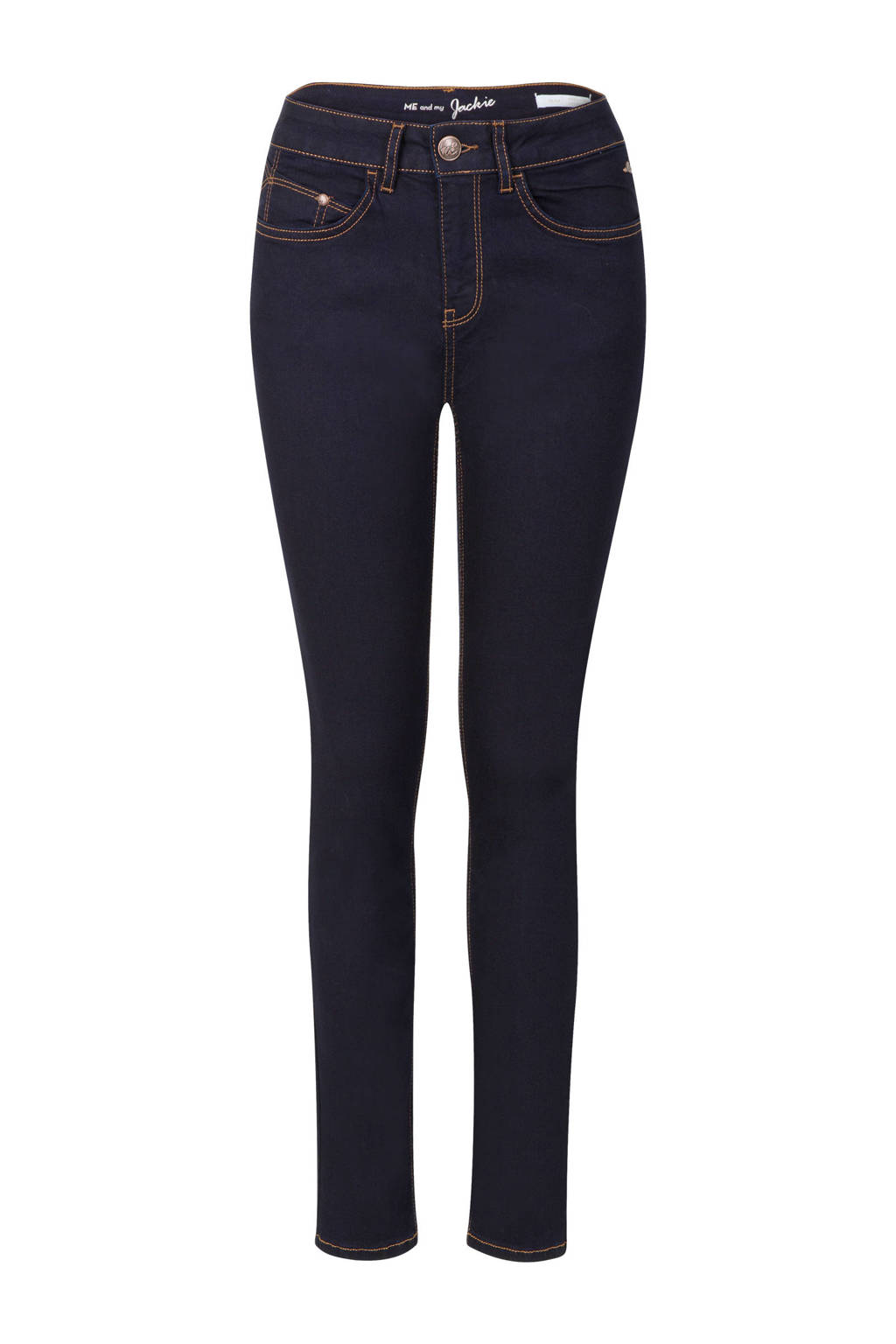 Miss Etam Regulier slim fit jeans 30 inch, Donkerblauw