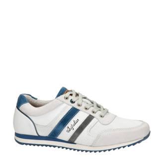 Cornwell leren sneakers met strepen wit