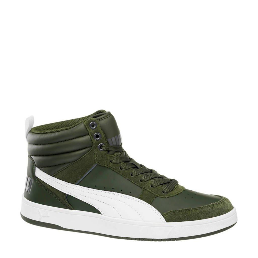 Puma  suède sneakers zwart, Groen