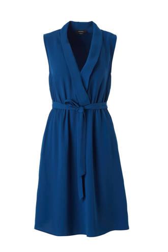 Yessica mouwloze jurk blauw