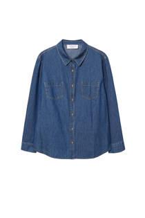 Violeta by Mango denim blouse donkerblauw (dames)
