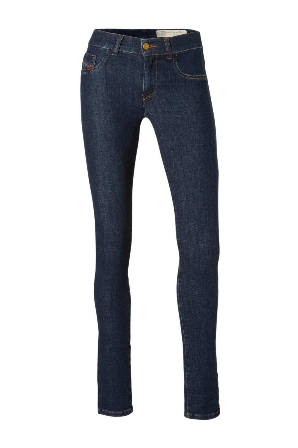 Diesel Livier-S super slim-jegging low waist fit jeans, Blauw