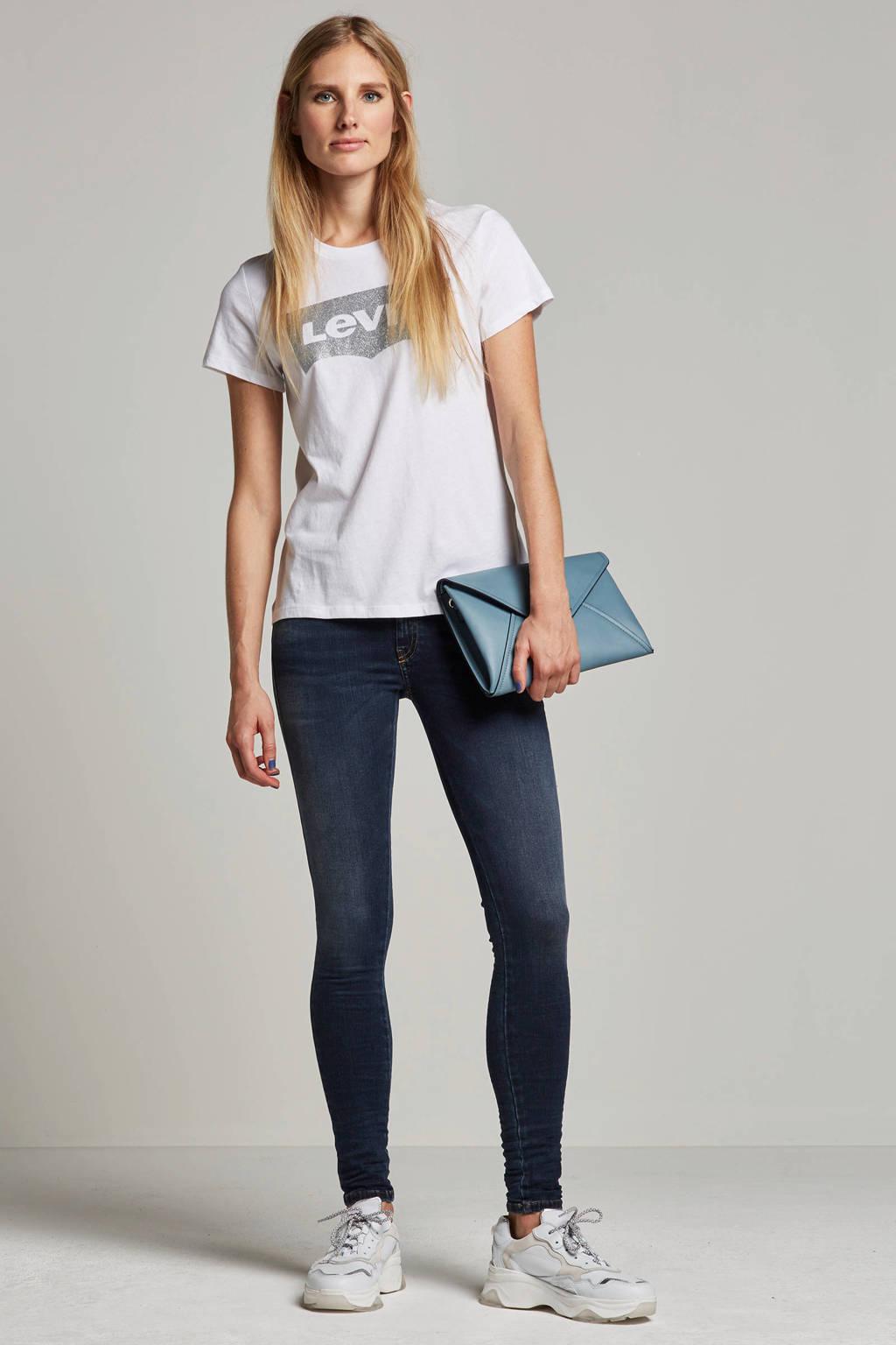 Diesel Slandy skinny fit low waist jeans, Blauw