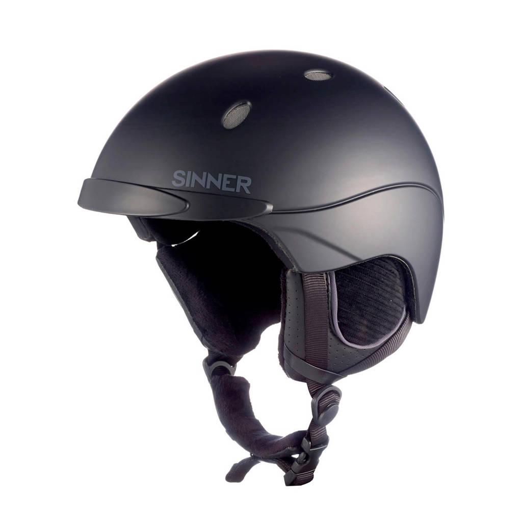 Sinner skihelm Titan Unisex zwart, Zwart