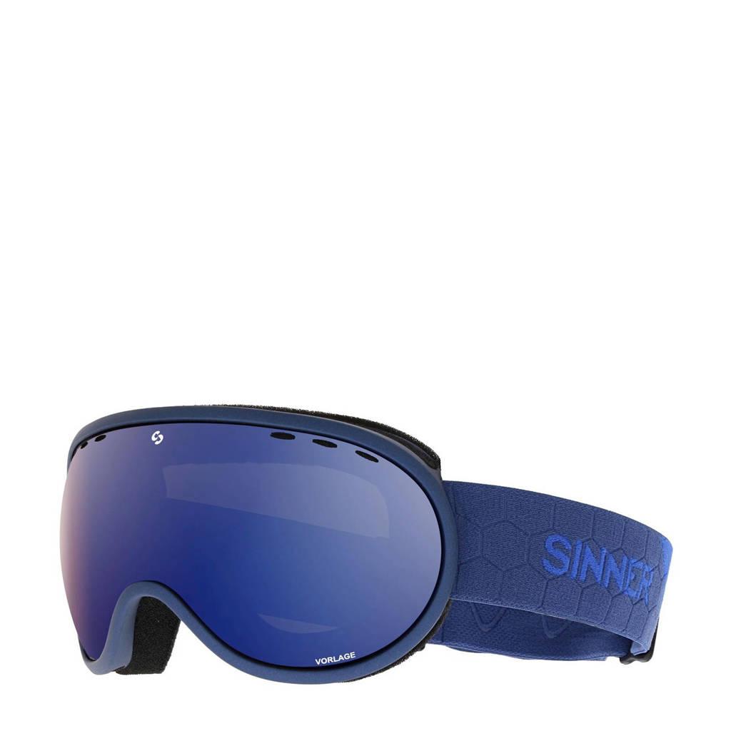 Sinner Unisex skibril Vorlage blauw, Blauw