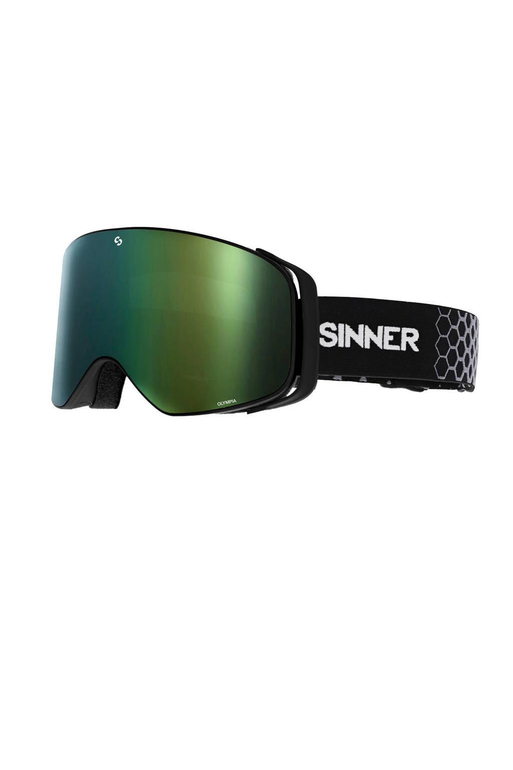 Sinner Unisex skibril Olympia zwart, Zwart
