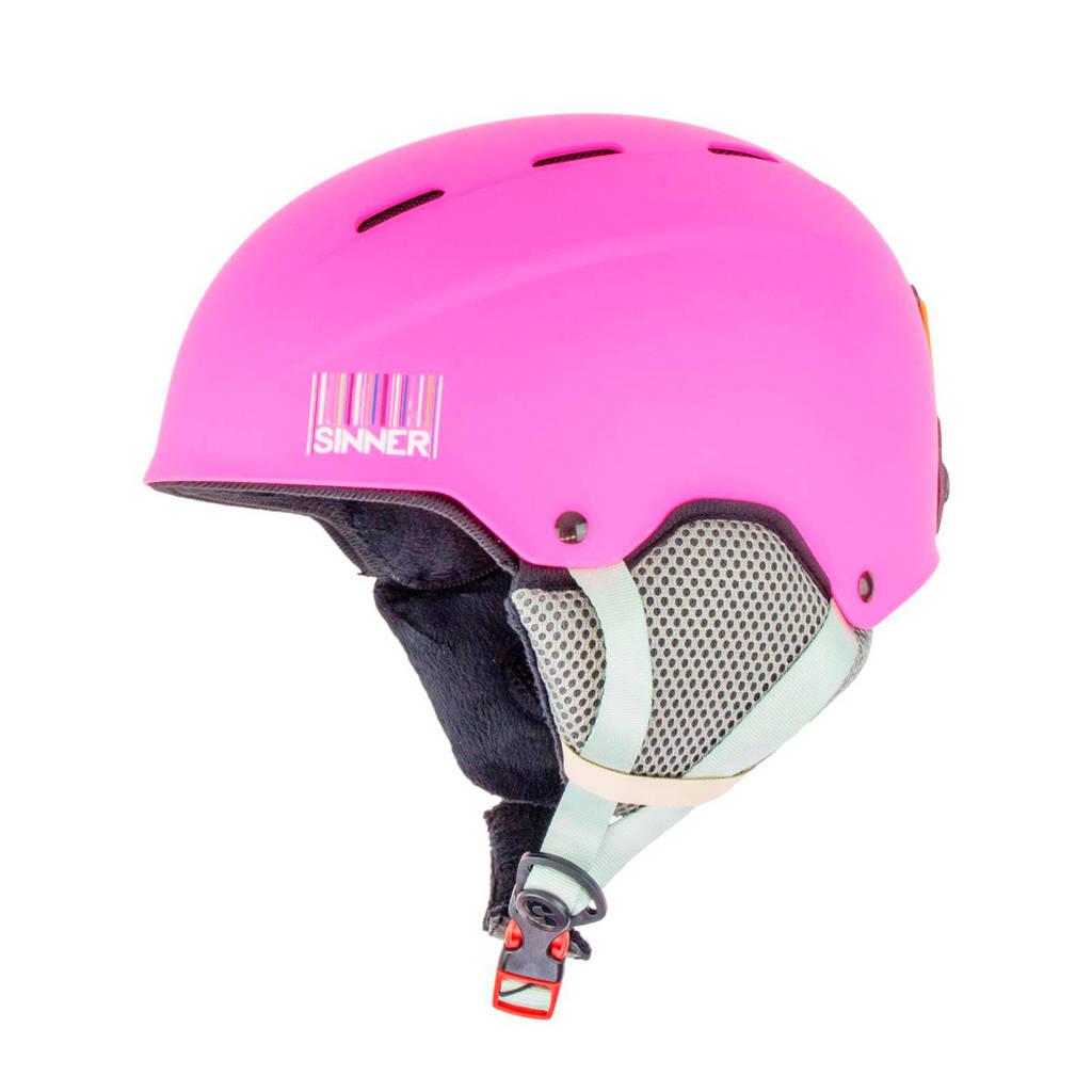 Sinner Jongens/meisjes skihelm Poley roze, Roze/neon roze