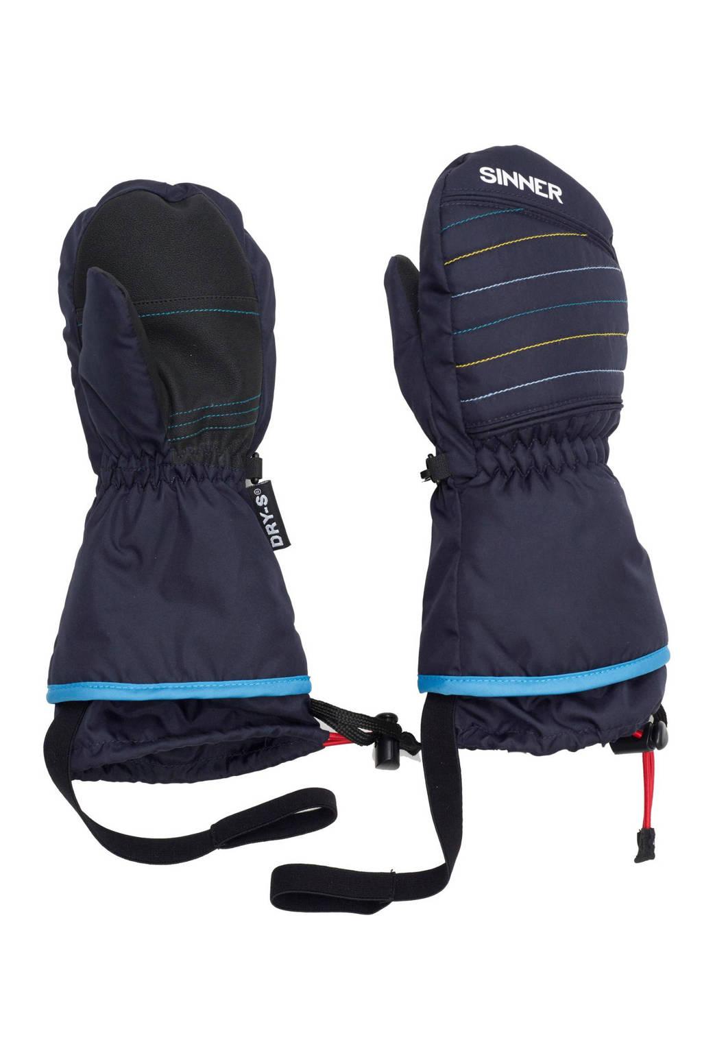 Sinner skihandschoenen Stratton Mitten Junior, Donkerblauw/blauw