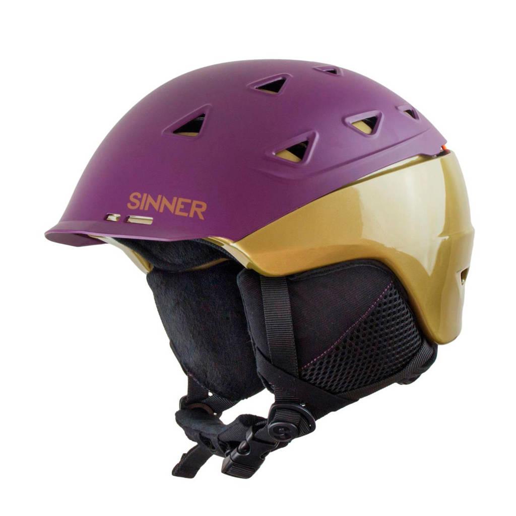 Sinner skihelm Stoneham Hybride paars/goud, Paars/goud