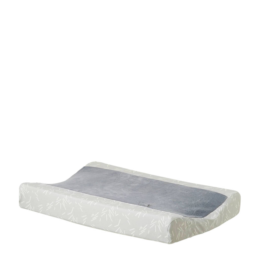 Petit Juul aankleedkussenhoes grijs/wit, Grijs/wit