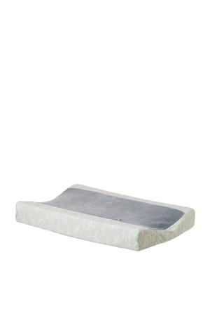 aankleedkussenhoes grijs/wit