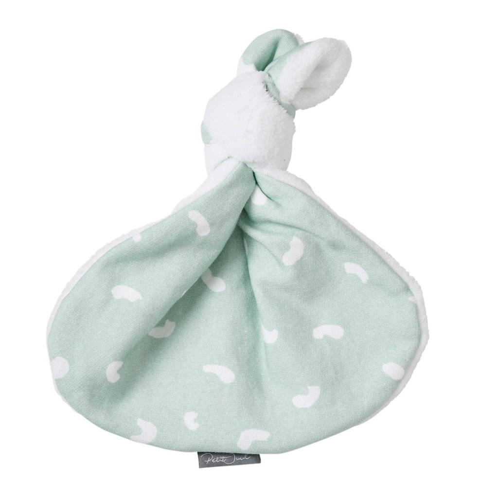 Petit Juul knoopkonijn groen/wit knuffel 43 cm, Groen/wit
