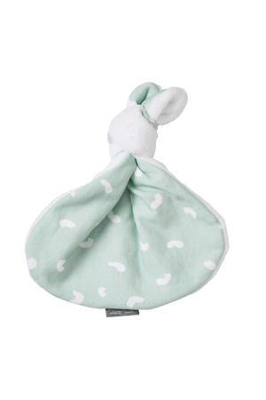 knoopkonijn groen/wit knuffel 43 cm