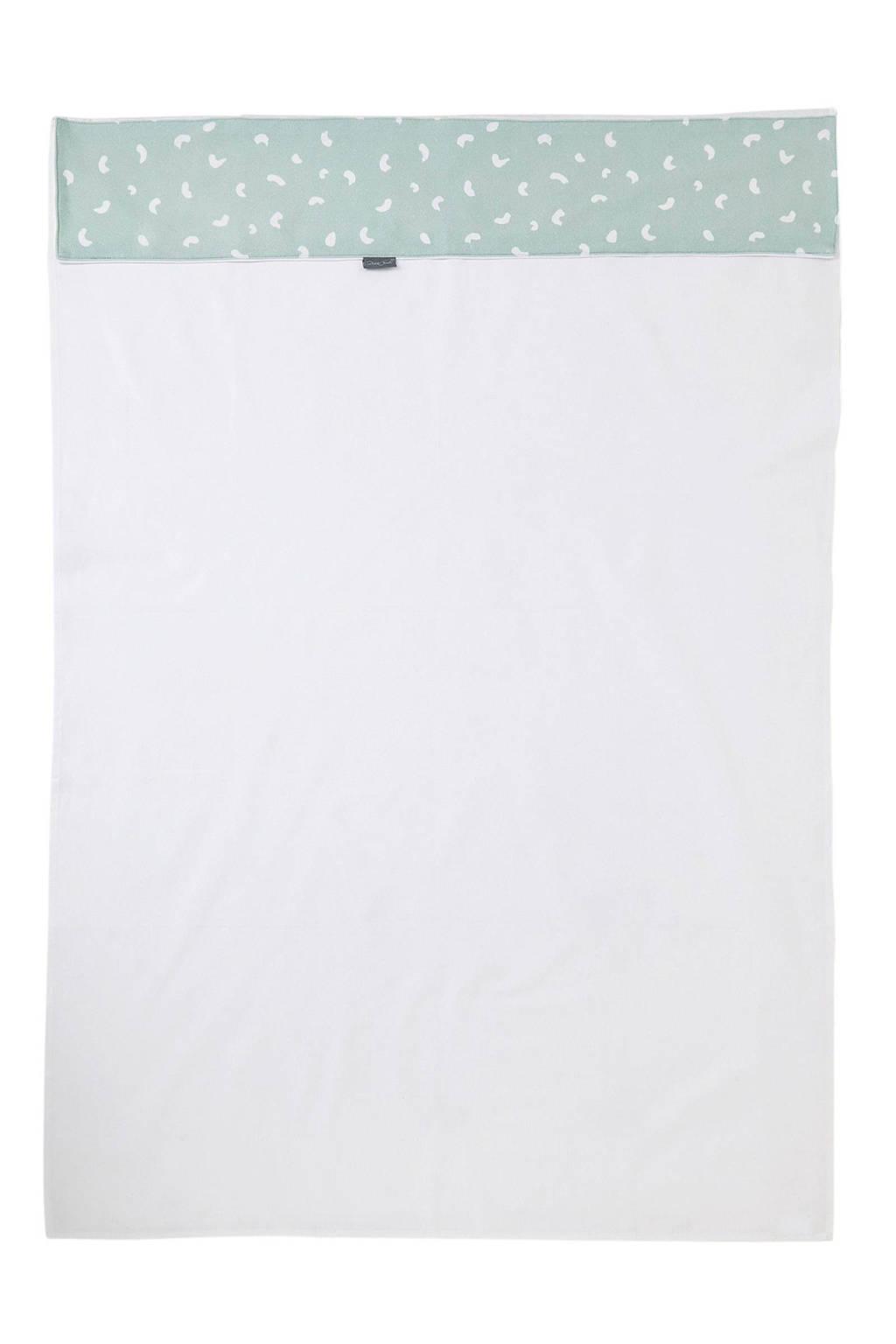 Petit Juul ledikantlaken groen/wit 150x100 cm, Groen/wit