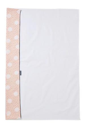 baby wieglaken roze/creme/zwart 75x100 cm