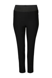 broek met elastische tailleband zwart