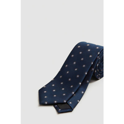 f8432ceaf0e outlet Mango Man zijden stropdas donkerblauw - digitalizacion.masoft.net