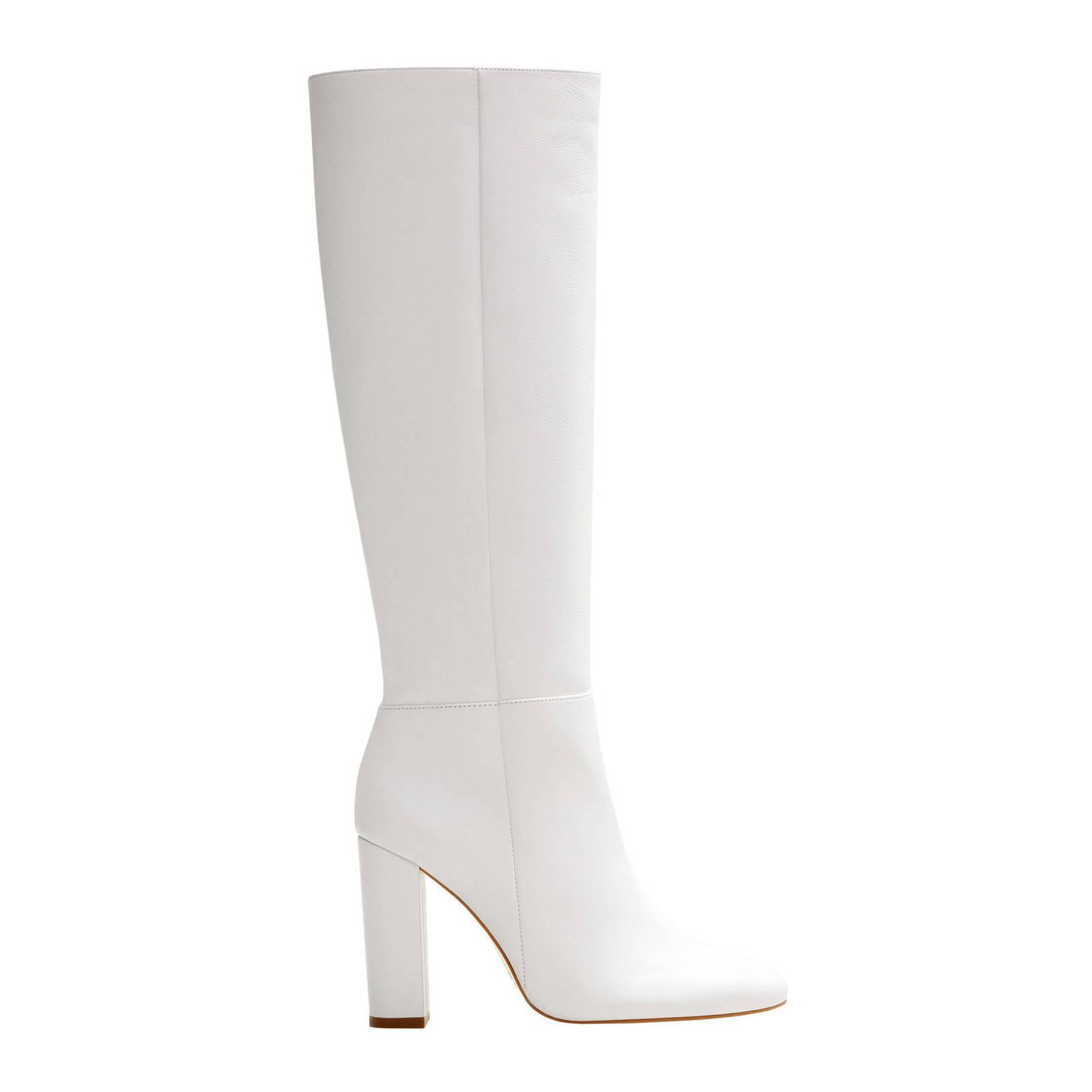 leren laarzen wit
