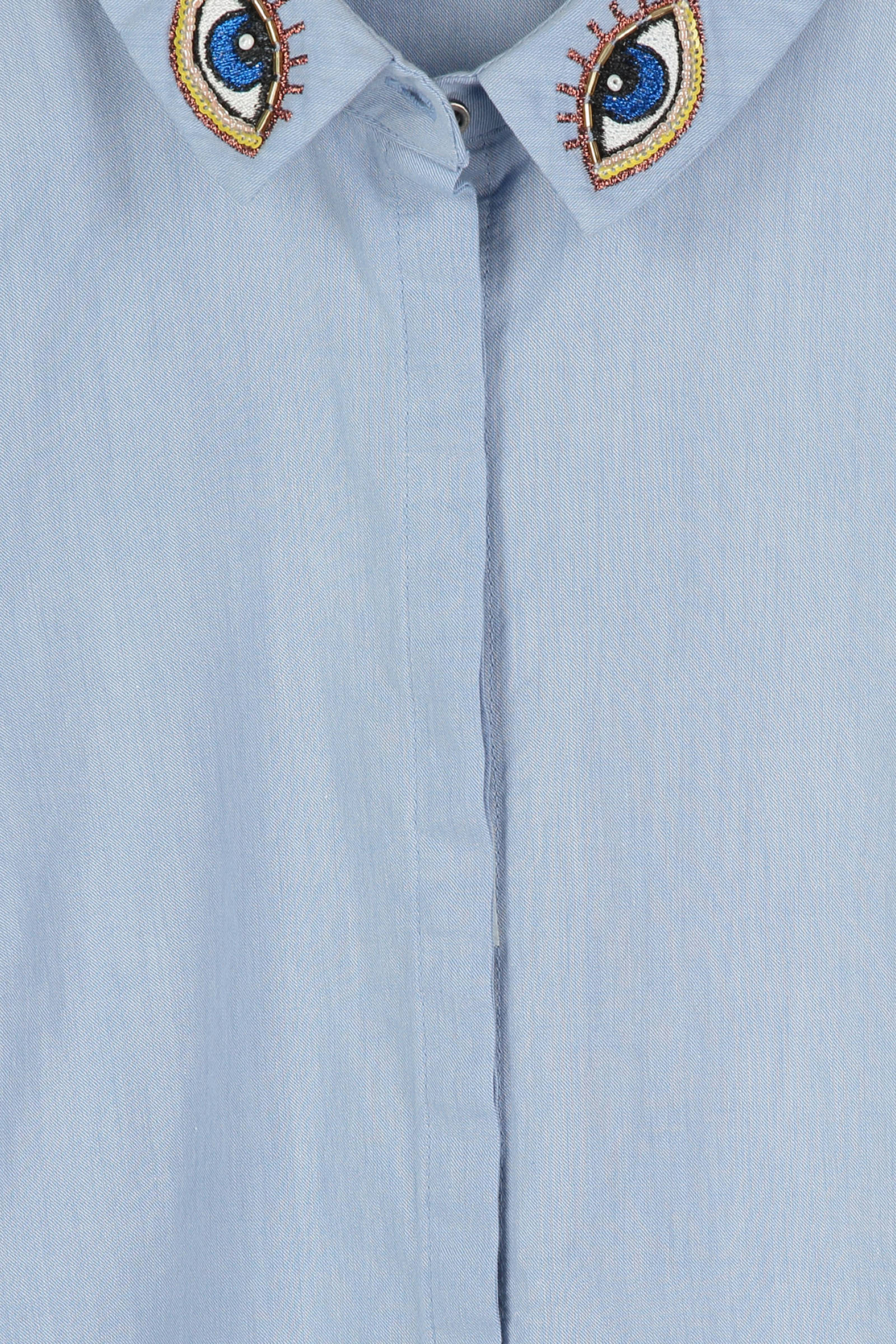 lichtblauw blouse met borduursel CKS Marjanne zqAAU