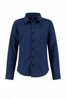 regular fit overhemd Botan met all-over print donkerblauw