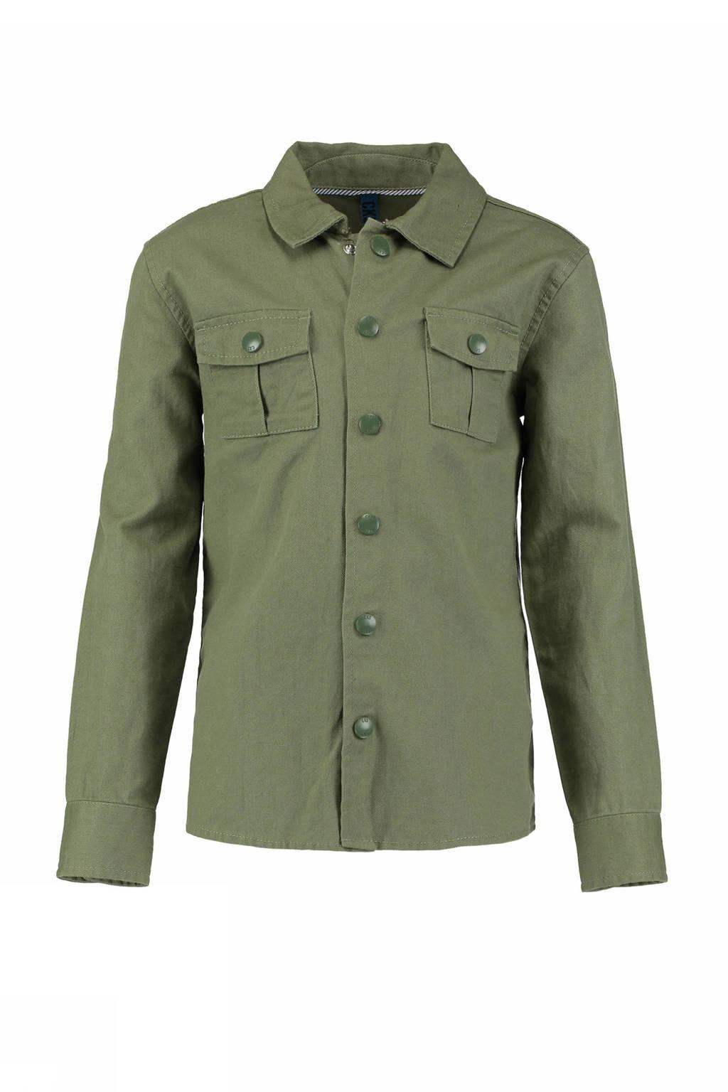 CKS KIDS regular fit overhemd Yavin kaki, Kaki