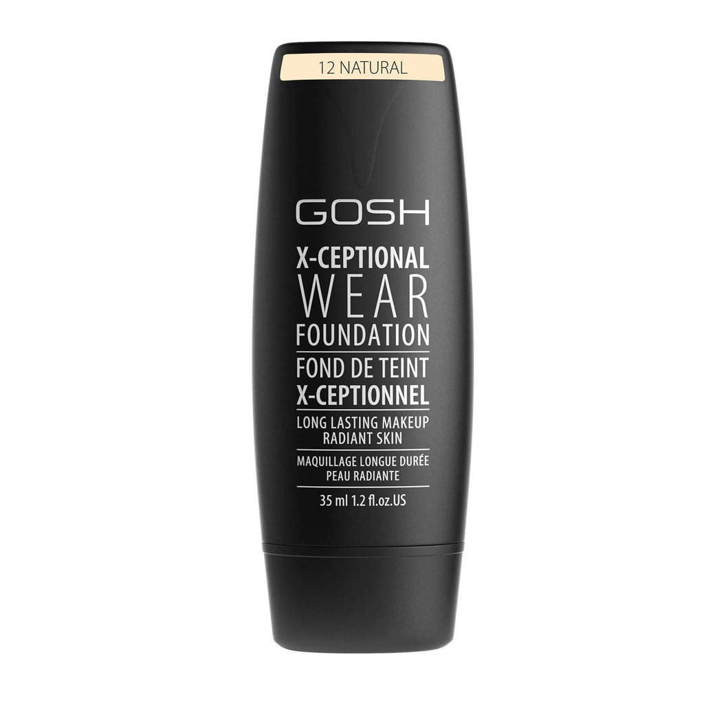 Gosh X-Ceptional Wear foundation - 12 Natural