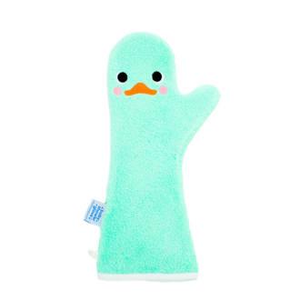 baby shower glove mintgroene zwaan