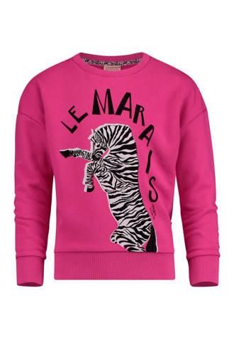 sweater Nonja met zebra roze