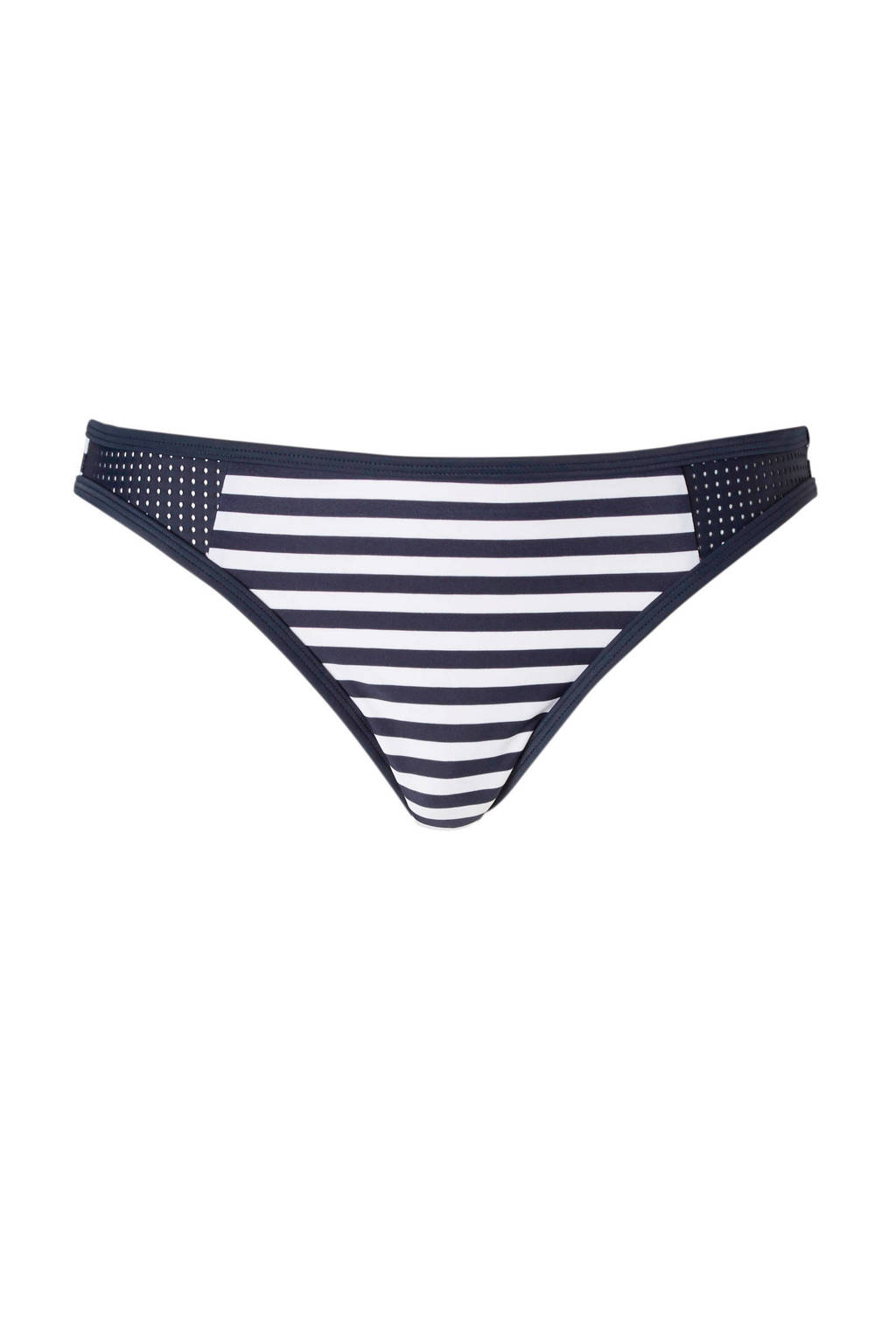 ESPRIT Women Beach gestreept bikinibroekje donkerblauw, Donkerblauw/wit