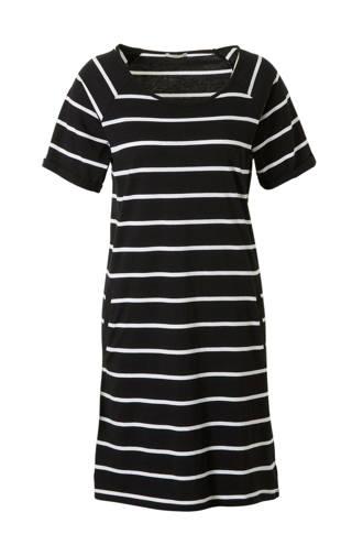 Women Beach nachthemd met strepen zwart