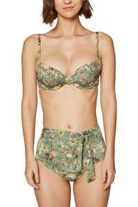 ESPRIT Women Beach beugel bikinitop met all-over print groen, Groen/geel