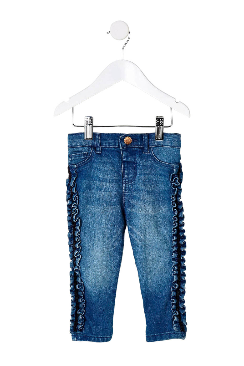 River Island jeans met ruches, Blauw