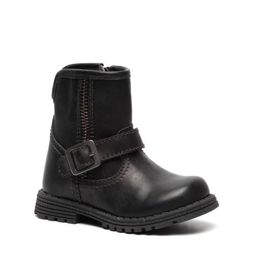 Hush Puppies leren boots donkerblauw kopen