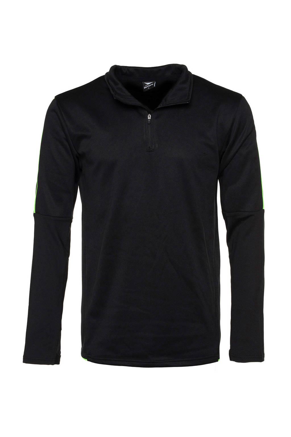 Scapino Dutchy   sport T-shirt zwart, Zwart/groen
