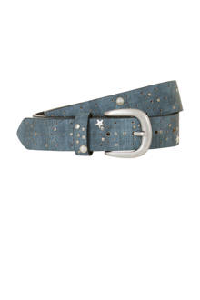 Accessoires riem met studs blauw