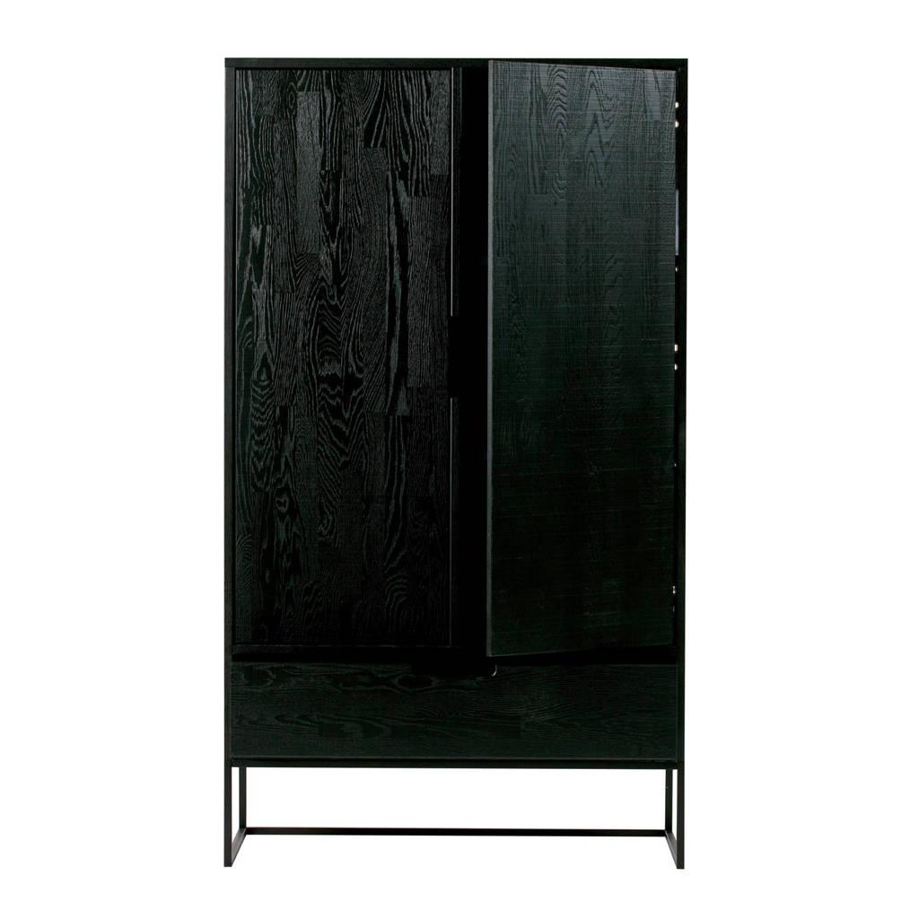 WOOOD Exclusive 2-deurs kast Silas, Zwart