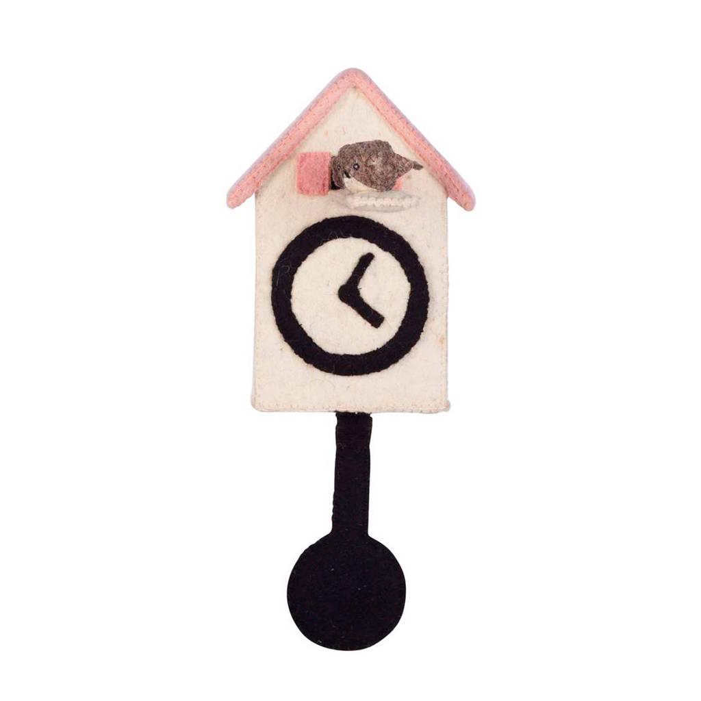Kidsdepot wanddecoratie klok, Ecru
