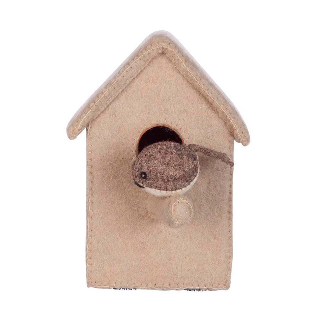 Kidsdepot wanddecoratie vogelhuisje, Beige