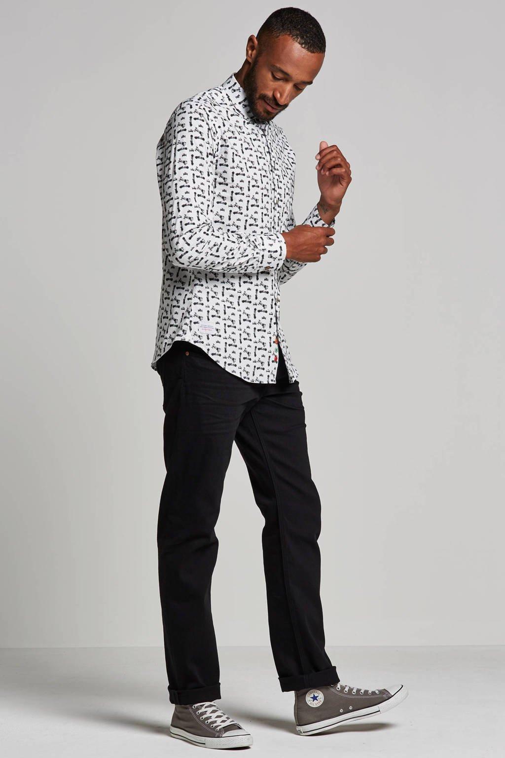 ESPRIT Men Casual straight fit jeans, Zwart
