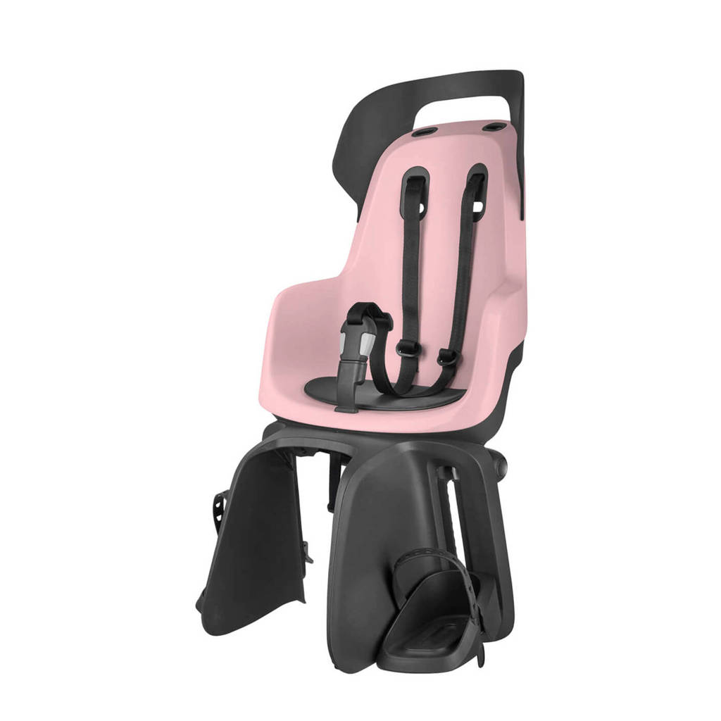 Bobike Go E-BD fietsstoeltje achter cotton candy pink